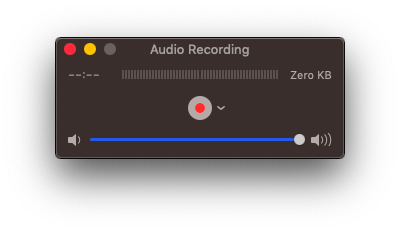 Audio recording in Quicktime